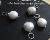 Coin Pearl Pendant, AAA Grade, freshwater pearl in sterling silver, Gemstone pendant, Interchangable pendant, Slider, Pearl Dangle