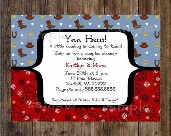 www uprint com templates - cowboy baby shower invitation digital printable file