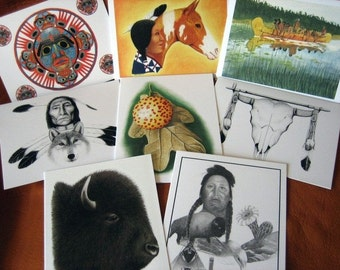 Set of 8 Native American/ Nature Notecards