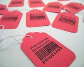 Set of 20 Tags - Made Just For You Because You're Priceless