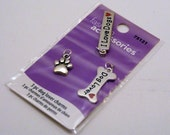 3 Silver Dog Lovers Charms