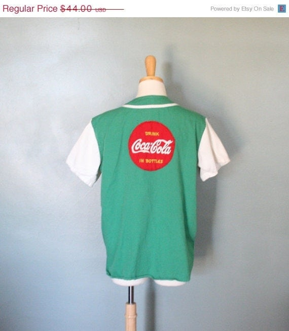 BLOWOUT 60% off SALE Vintage COCA Cola 50s Baseball Jersey, Collector's Item