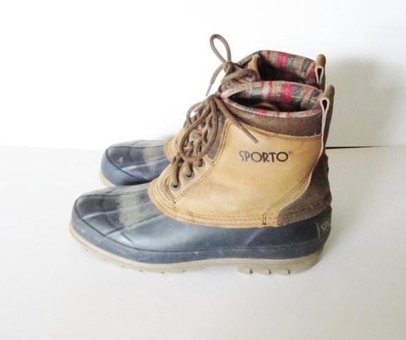 Vintage 70s DUCK Boots by Sporto - Women 7M