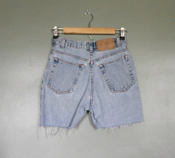 Vintage 80s LA BLUES Cut Off Denim Shorts - Women XS Small - High Waist