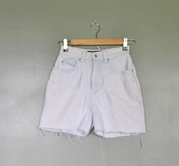 Vintage 80s LA BLUES Cut Off Denim Shorts - Women XS Small - Light Wash High Waist