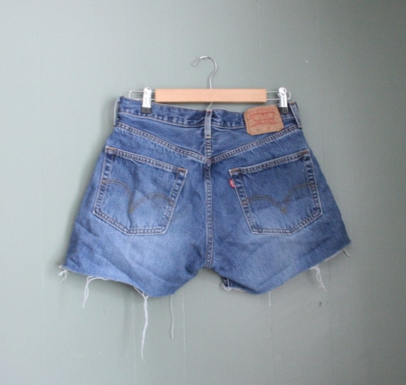 Vintage 501 Levi's Cutoff Denim Shorts - Women Medium Large
