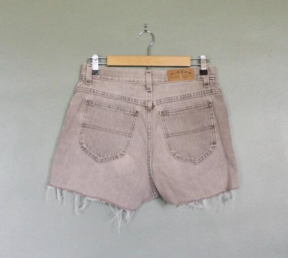 Vintage 80s RIDERS Denim Shorts - Women M - Beige Jean