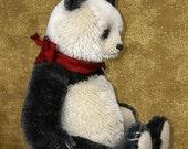 Mulan Panda Style Artist Bear PDF Pattern by Aerlinn Bears