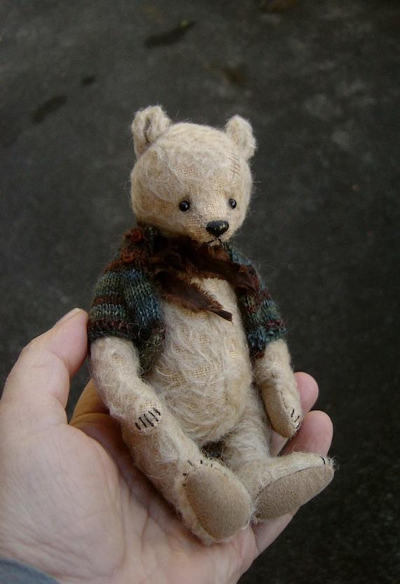 Shubert, OOAK Moniature Mohair Artist Bear from Aerlinn Bears