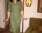 50s Original Celery Green Knit Set