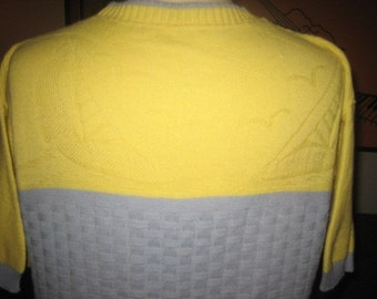 Original Mens 40s RARE Cable Knit Pull Over Sweater-Fathers Day Sale Item