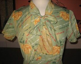 60s Original Yellow Rose of Texas Dress