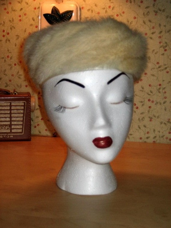 Gorgeous 50s Original Mink Hat