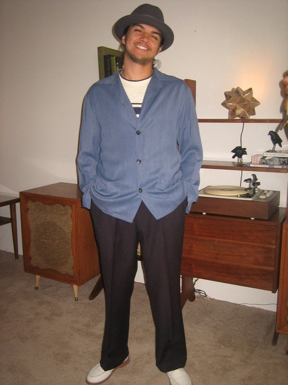 Super Cool 50s Original Mens Gabardine Dress Jacket
