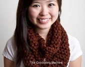 Chocolate Brown Infinity/ Cowl/ Full Circle Scarf