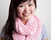 Pink Cowl Infinity Scarf