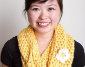 Golden Yellow Cowl Infinity Scarf