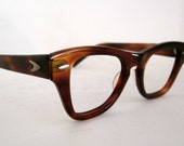 ON SALE Horn Rim Eyeglasses. 50s Bausch and Lomb.