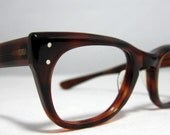Vintage Eyeglasses. Thick Horn Rim Mens Glasses.