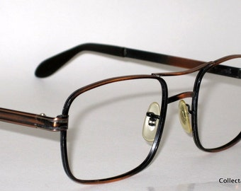 Vintage 60s Square Aviator Frames. 12 karat Gold Filled. Don Draper Style.