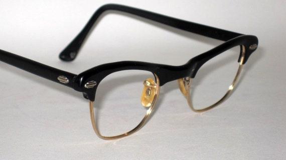 Horn Rim Eyeglasses. 50s Artcraft.