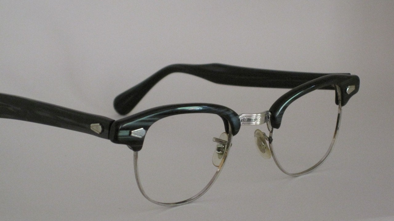 Glasses Frames Vintage Style : Vintage 50s eyeglass frames. Mens 12 karat gold filled