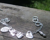 special listing for Vickie Foss -- Young Women's - Latter Day Saint values Silver Charm Bracelet