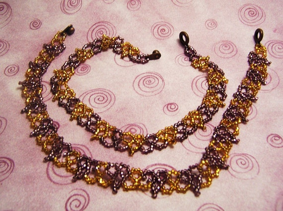 Daughter of Hearts Necklace Set (Gold and Purple, Purple and Gold)