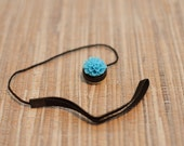 SALE Cyan Blue Flower Lens Cap Keeper for Photographer SALE
