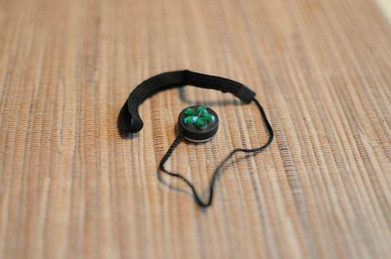 Emerald Flower Lens Cap Keeper Strap for Photographer