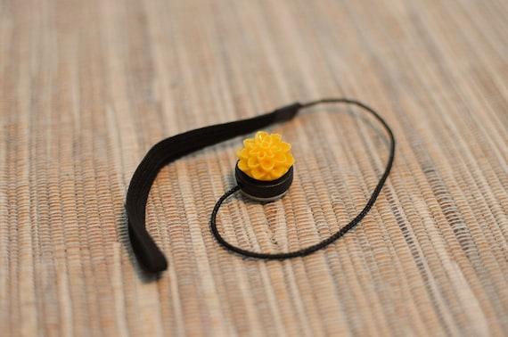 Bright Sunflower Lens Cap Keeper Strap for Cameras
