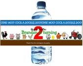 D.I.Y. Farm Animals Water Bottle Wraps