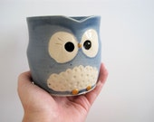 Hooter Owl Mug (Mollie) in Stone Cold Blue