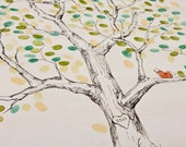Guest book fingerprint tree, size XXL Elm for 300-400 guests (ink pads also available in our shop)