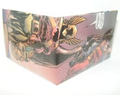 Weekend Sale// Comic Book Wallet// Hawkman and Captain Marvel