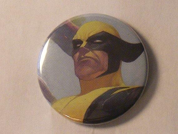 """Comic Book 1.5"""" Button// Wolverine"""