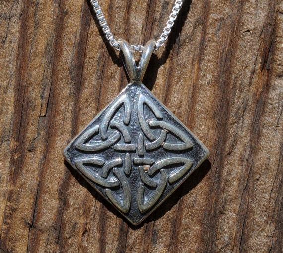 Celtic Four Trinity Knot Pendant