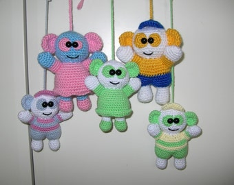 Baby mobile / Mascot - 2 PDF crochet patterns