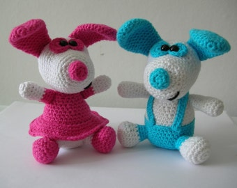 Little doggy Boo and Belle - 2 PDF crochet patterns