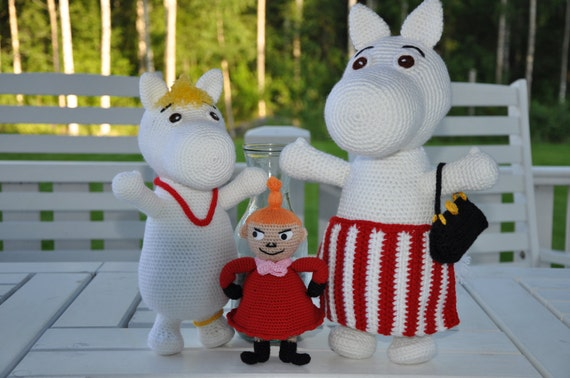 Moomin and Little My - 2 PDF crochet patterns