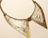 Metal Collar (necklace) with Snake Skin Pattern