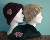 Crochet pattern : triptych pattern ladies hat, 3 patterns in 1