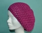 Crochet pattern : ladies puff stitch hat and beret