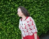 CROCHET PATTERN :  poncho with lace pattern