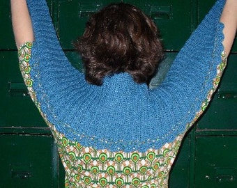 Crochet pattern : Tender Wavelet Shawl