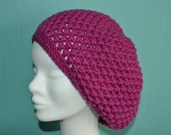 Crochet pattern : ladies puff stitch hat and beret
