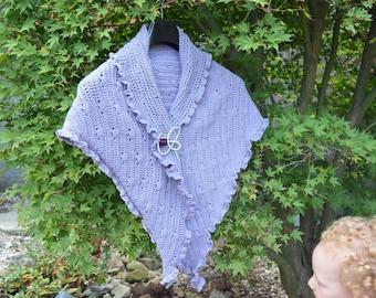 Crochet pattern : little shells shawl
