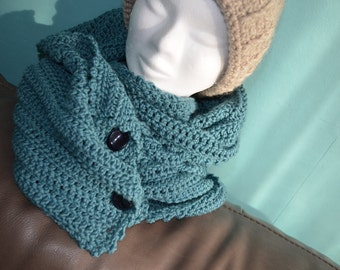 Crochet pattern : superlong scarf with a pocket (also makes a great xl-cowl)