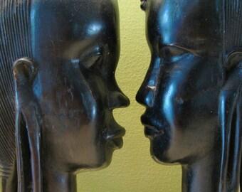 SoulMates...Antique Ebony Handcarved Sculptures