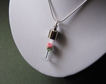 Micro Origami Rose Necklace - Bliss - Origami Jewelry